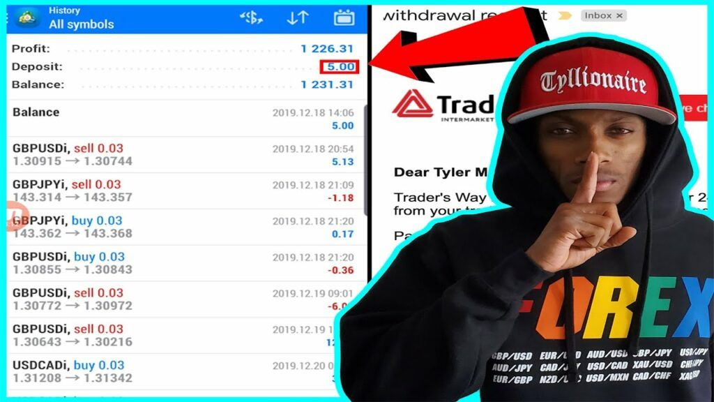 How To Turn $5 into $1000 in LESS THAN 30 DAYS TRADING FOREX | TYLLIONAIRE